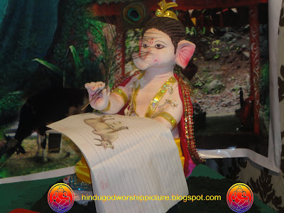 Image Of  Bal Ganesh Reading Ganesh Chaturthi, Near Bhagal Char Rasta Road