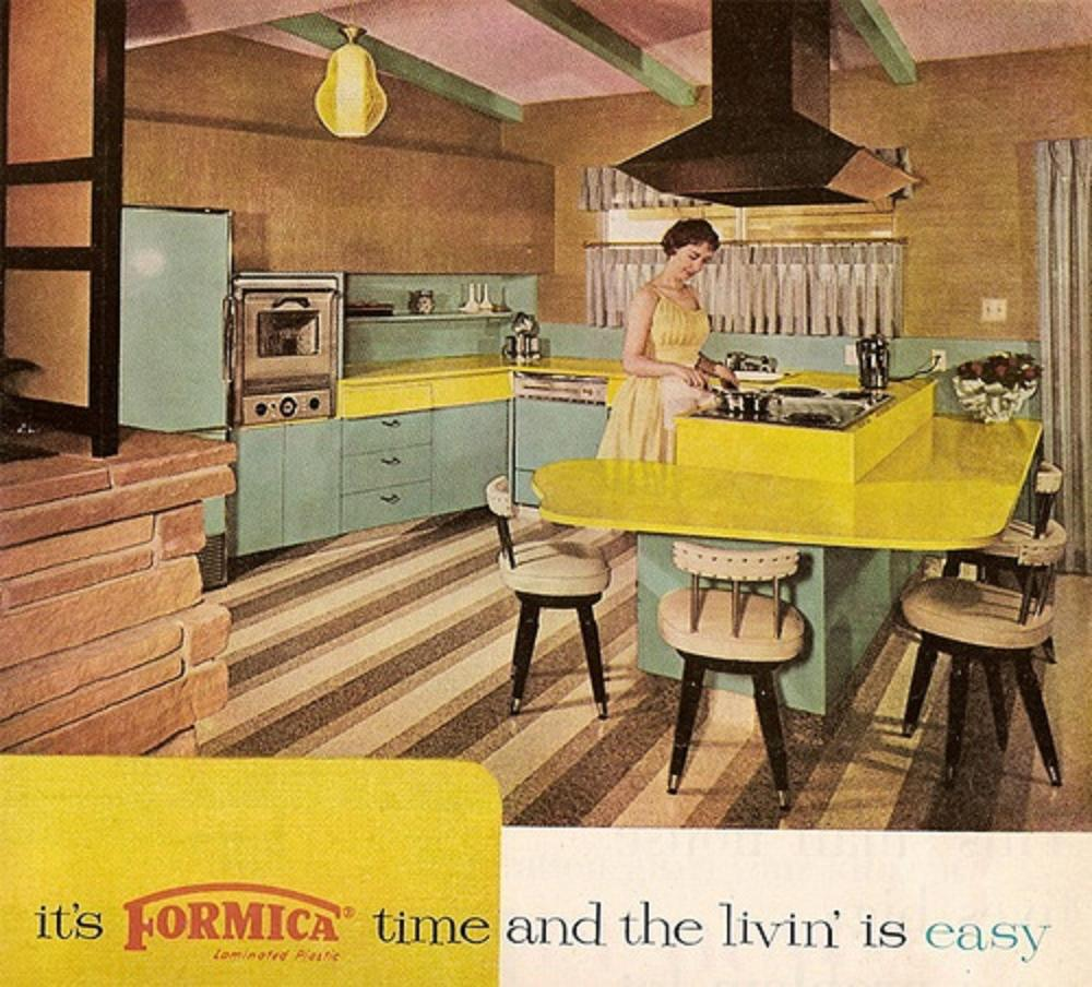 Farm girl pink vintage kitchens turquoise and - Table cuisine formica annee 50 ...