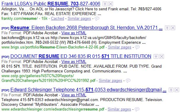 recruiter book  how to search resumes on google