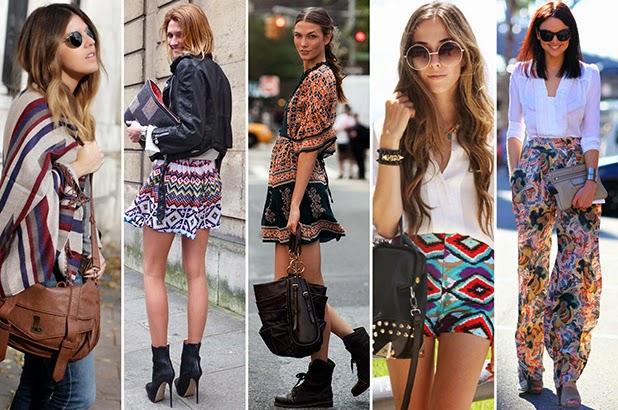 5 looks femininos com estampas étnicas
