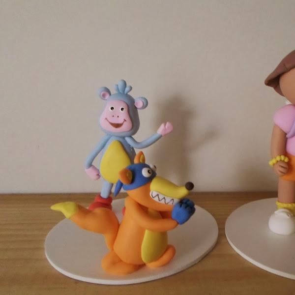 Topo de Bolo da Dora Aventureira e seus amigos