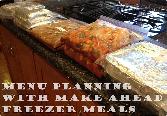 #MenuPlanning with make ahead freezer meals