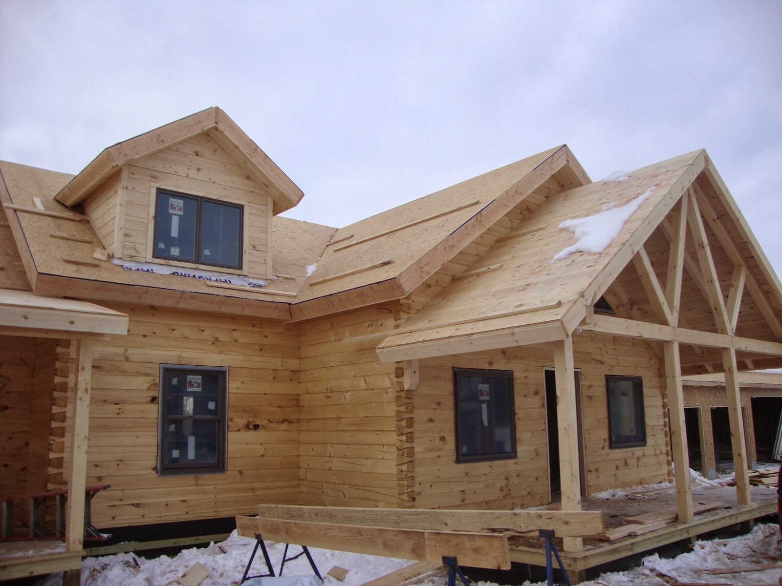 full pine log home