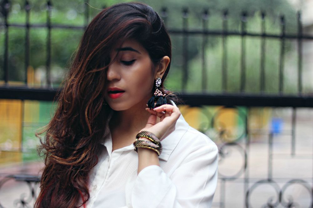 cheap earrings in India, tassel earrings, jewellery