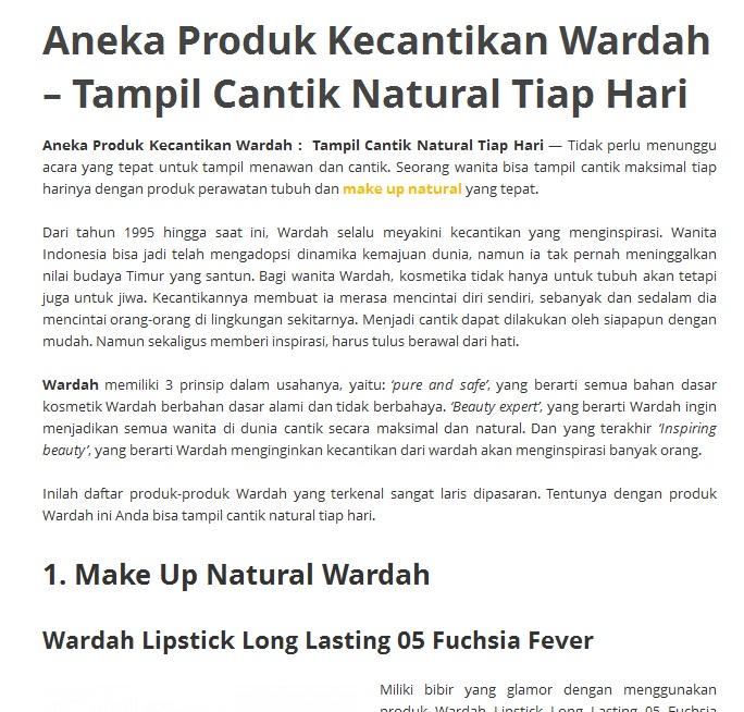 Wardah Kosmetik Wardah Online 087788157036 Wardah