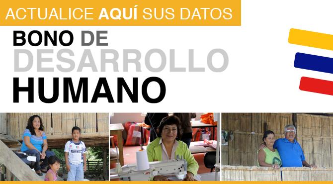 Bono de Desarrollo Humano Actualizacion de Datos 2013 | Noticias del