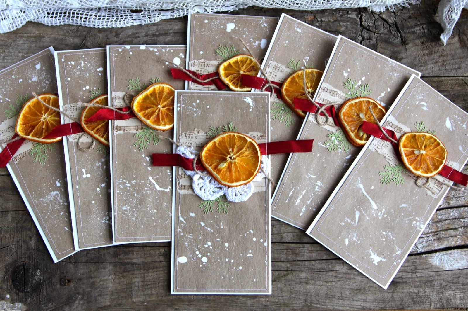 Открытка апельсин своими руками
