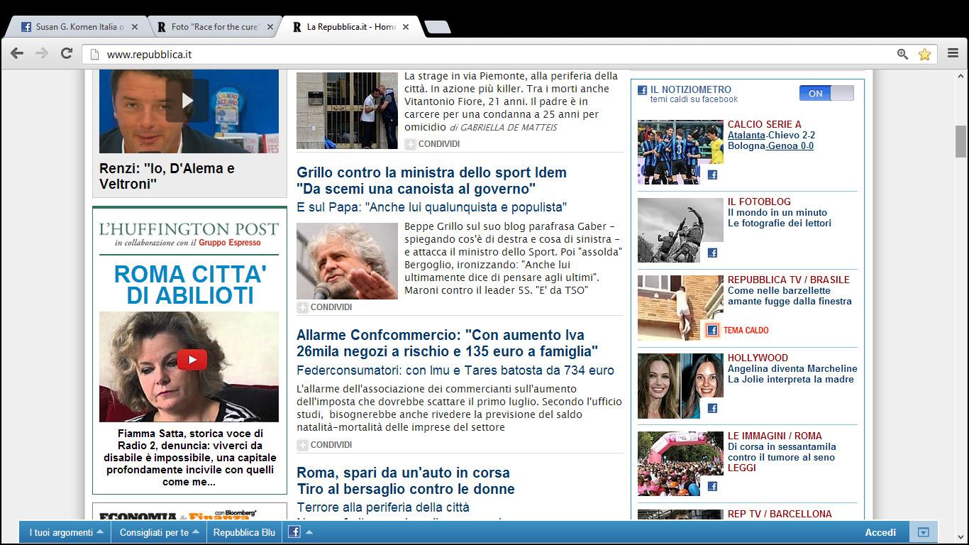 La mia race for the cure 2013 for Home page repubblica
