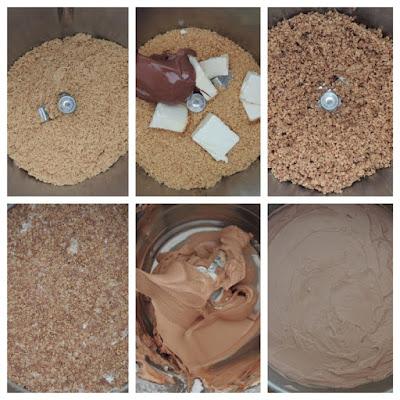 cheesecake con nutella preparazione