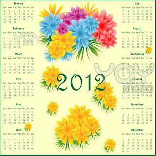 Free Flowers 2012 HD Calendar Download Online calendar 2012, English calendar 2012