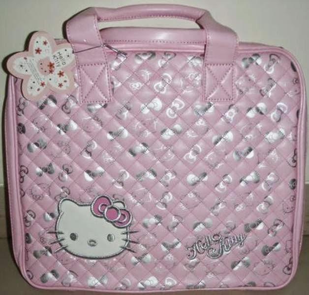 Tas laptop hello kitty lucu banget warna pink