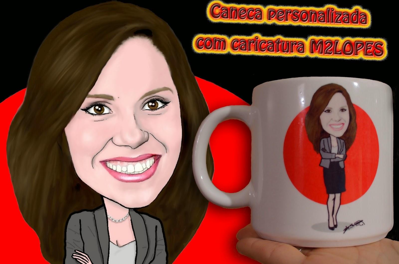 lembrancinhas personalizadas com caricatura M2LOPES
