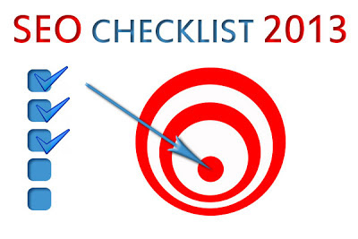 SEO Check List 2013