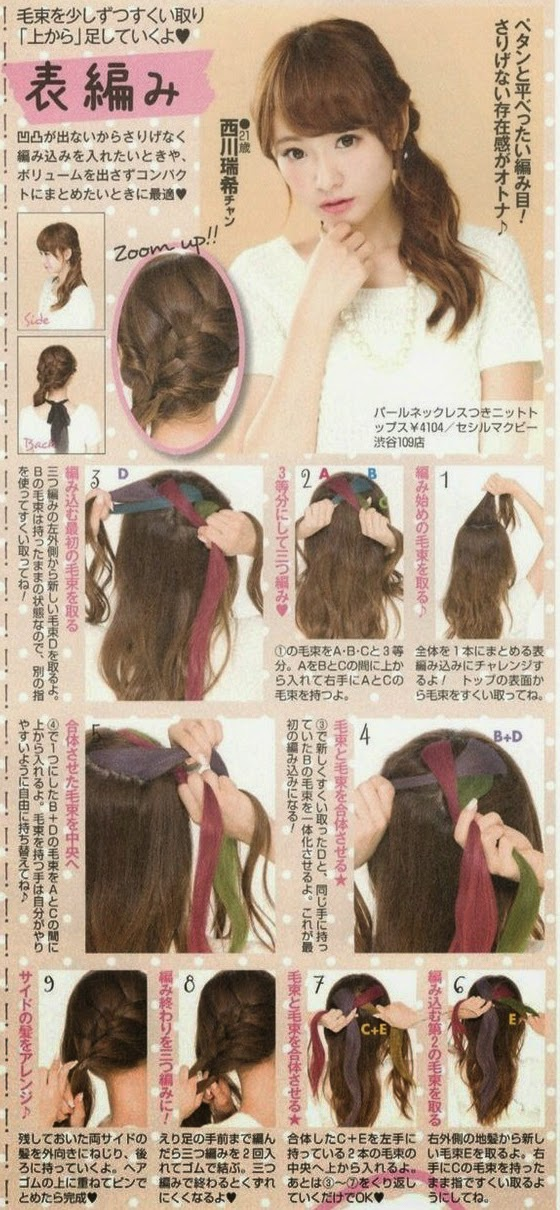 Mizukitty, Trança embutida, gyaru, penteados, tranças, kawaii