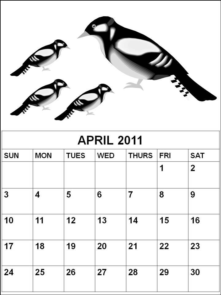 2011 april calendars. 2011 April Coloring Pages