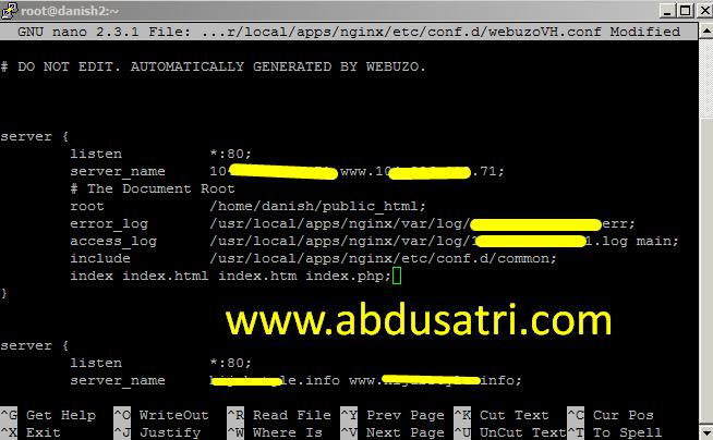 cara mudah mengatasi error 403 di webuzo