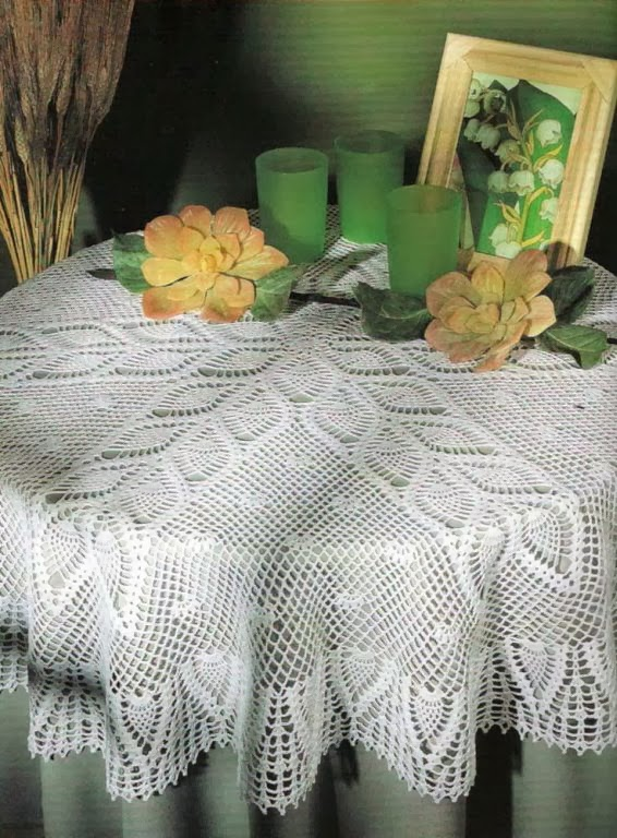 Round Tablecloth with Pineapples ~ Free Crochet Patterns