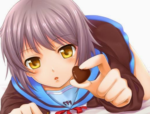 A repost of the classic Yuki chocolate pic. 'Cause...