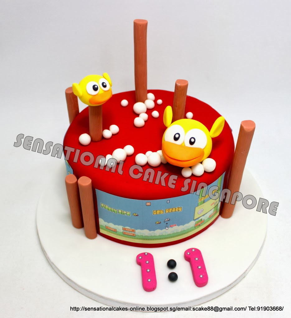 Flappy Bird Cake
