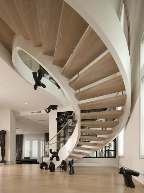 Wood Spiral Stair Home Design Ideas
