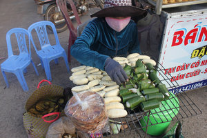 Grilling banana for sale in Xuyên Mộc town
