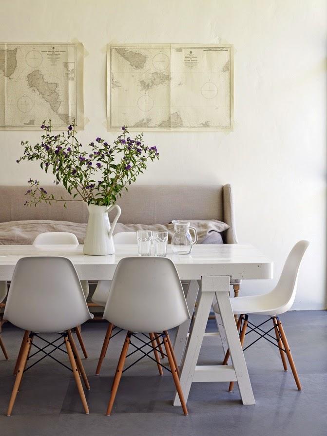 17 ideas bellas para comedores blancos inspiraci n en fotos for Como desmanchar el marmol blanco