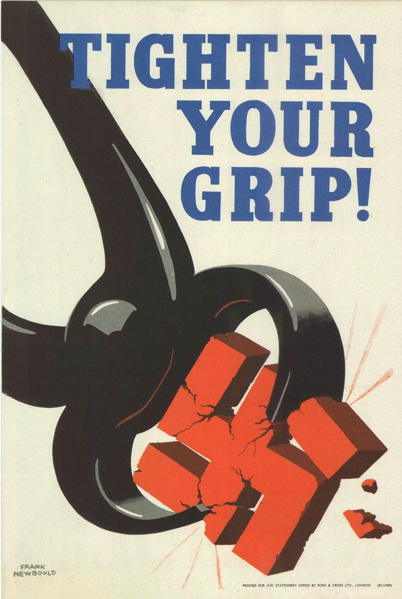 Poster design 1940 - 1939 45 Frank Newbould Tighten Your Grip Uk