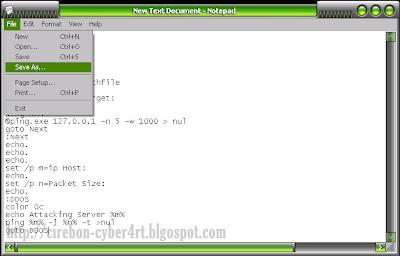 Cara Membuat Tool DDoS Sederhana dari Notepad