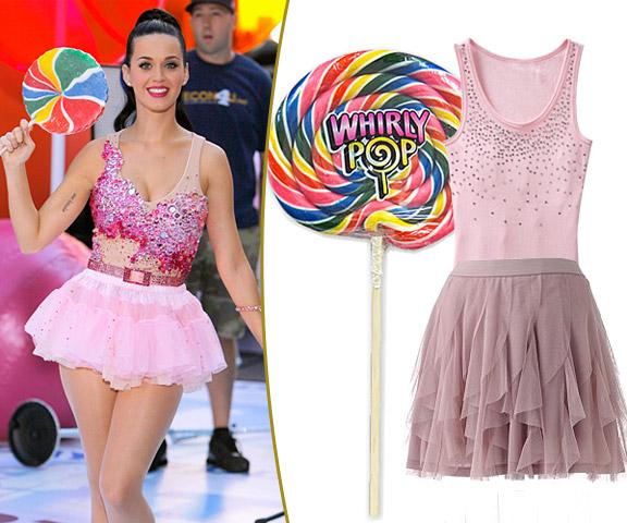 hollywood celeb styles: DIY Halloween Costume Ideas : Katy Perry Dress
