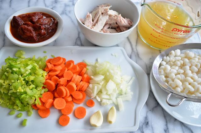 Turkey Posole - raw ingredients