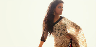 Asin Thottumkal in cream saree wallpapers
