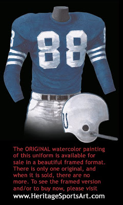 Baltimore Colts 1956 uniform - Indianapolis Colts 1956 uniform