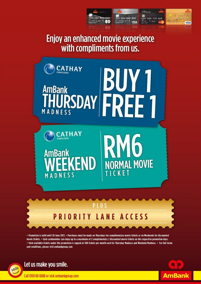 ... us ambank thursday madness buy 1 free 1 ambank weekend madness rm6