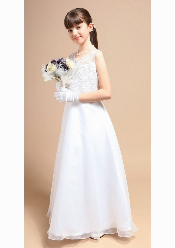 Classic Floor Length Zipper A Line Organza Flower Girl Dresses