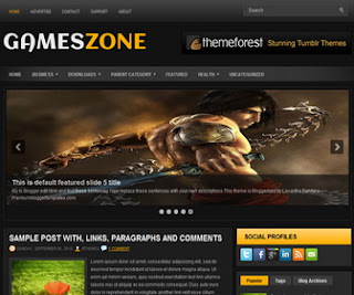 GamesZone Blogger Template