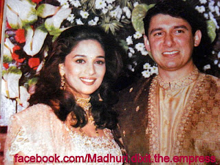 Madhuri Dixit with Husband Wedding Photos