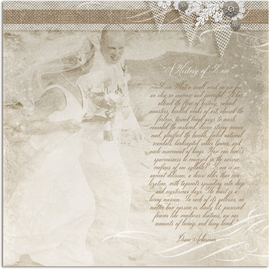 A Beach Wedding Digital Scrapbooking Layout See Boutique For Credits
