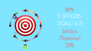 IBPS IT officers Syllabus Toipic List