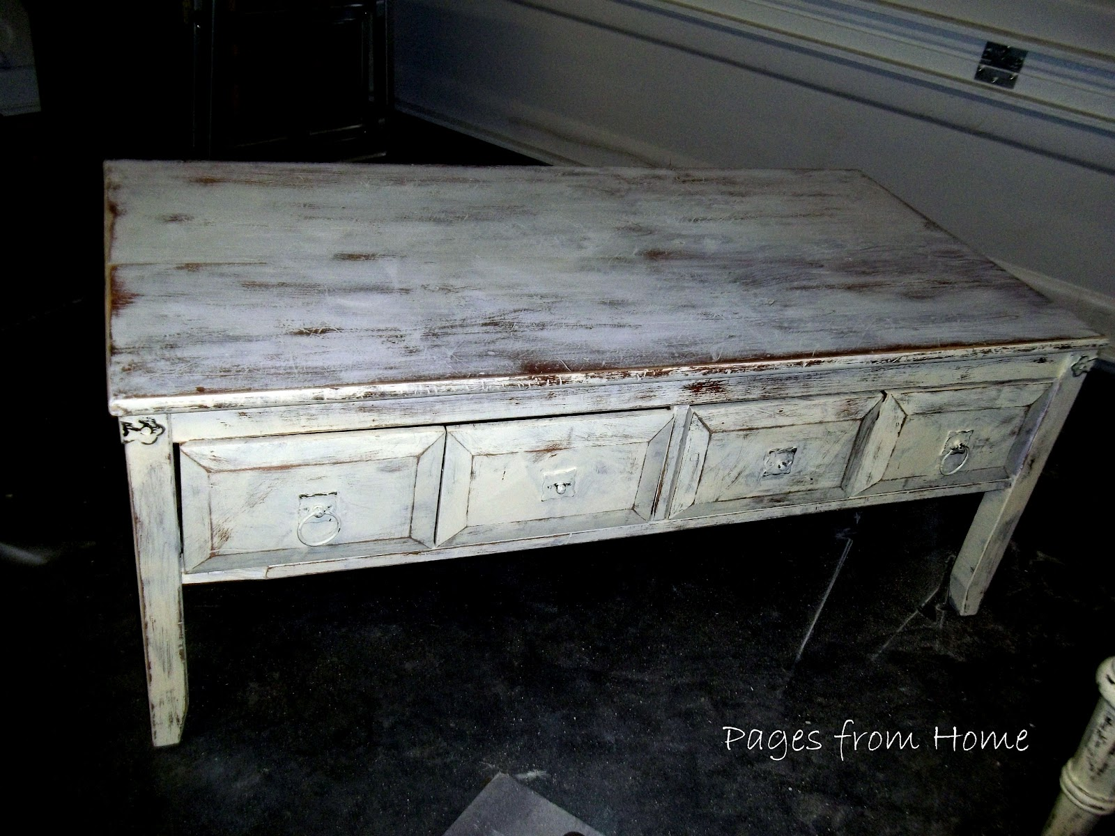 Pages From Home Drop Leaf Table With Homemade Chalk Paint