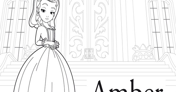 dibujo de princesa amber para colorear