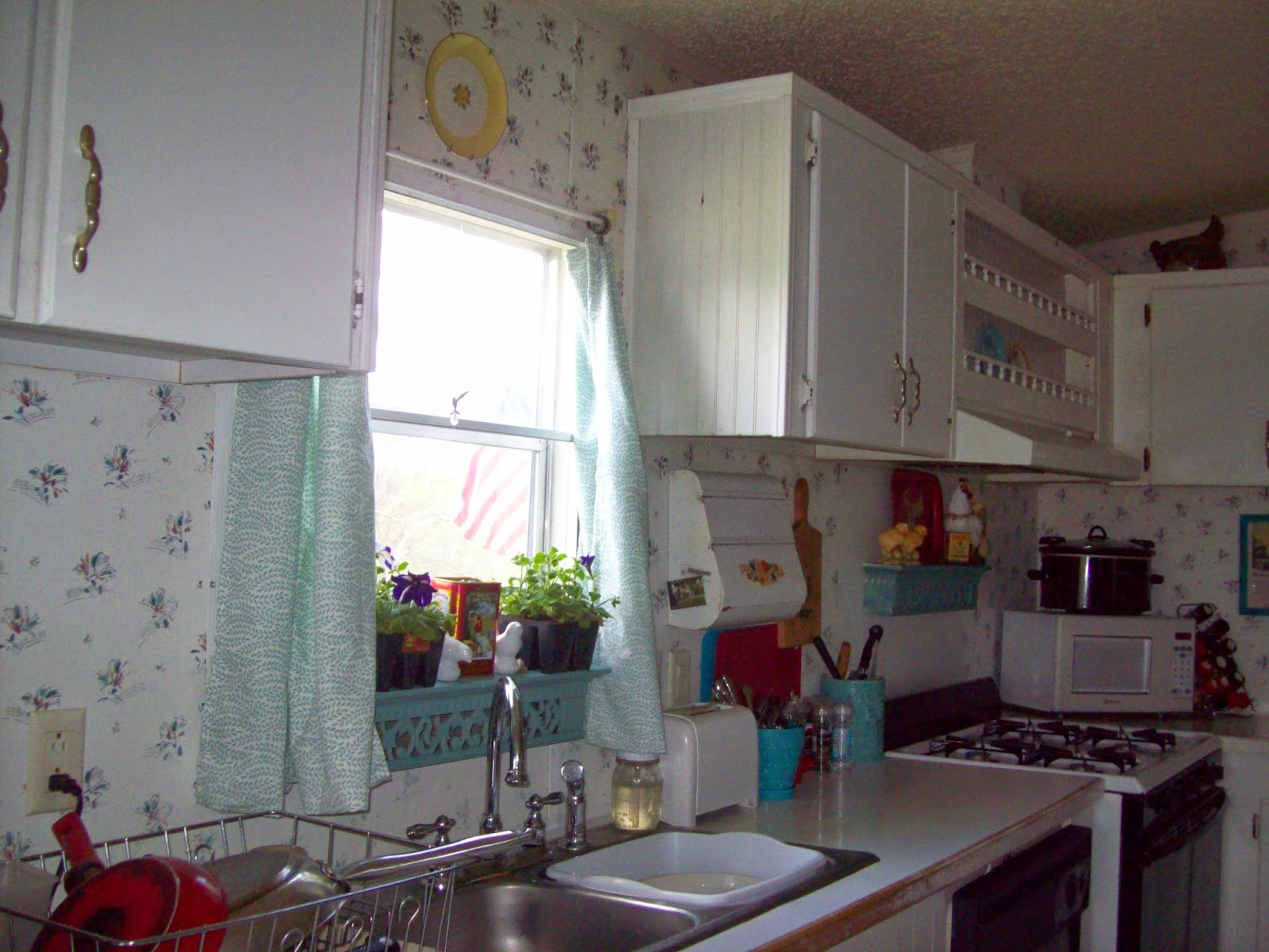 Long Curtains In Kitchen Blue House Journal Spring Fresh Freshening Up The Kitchen