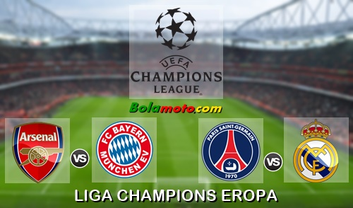 Jadwal Liga Champios Bulan Oktober 2015, UCL: DP BBM Arsenal vs Bayern Munchen dan UCL: DP BBM Paris Saint Germain (PSG) vs Real Madrid