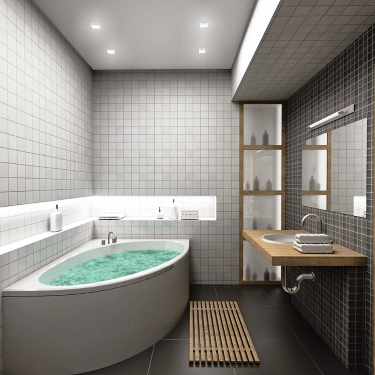 Decor Your Bathroom With Modern And Luxury Bathroom Ideas - House ...
