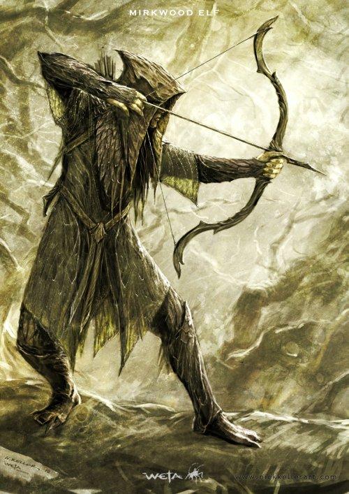 Nick Keller ilustrações arte conceitual fantasia sombria filmes hobbit orcs elfos anões