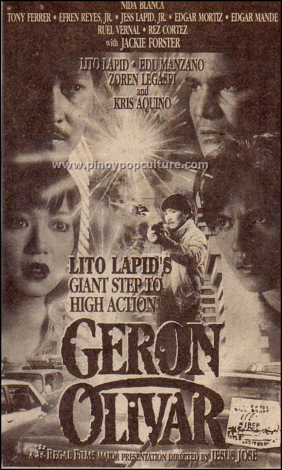 Lito Lapid, Regal Films, action movies, Geron Olivar