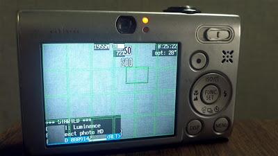 CHDK motion detection, screen, script