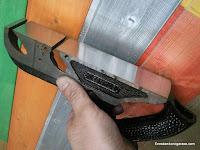 Base de cepillo de carpintería rectificada casi en espejo. www.enredandonogaraxe.com