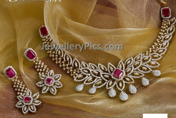 diamond set for weddings in simple design