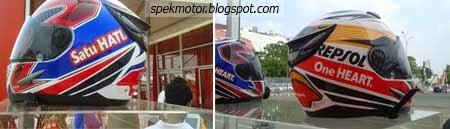 Helm Limited Edition Repsol dan Tricolor