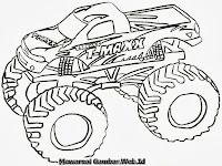 Mewarnai Gambar Mobil Truk Monster